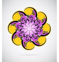Round ornament mandala vector image