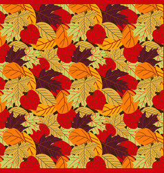 seamless autumn pattern background vector image