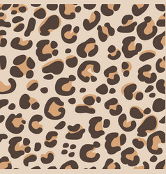 seamless pattern with an animal leopard pattern vector image