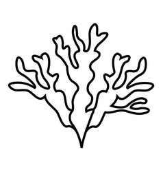 Seaweed icon outline style vector