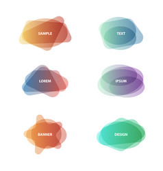 set of pale colors different shapes abstract vector image