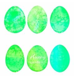 set watercolor eggs easter design elements vector image