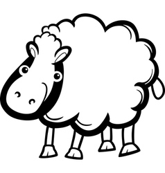 sheep farm animal cartoon for coloring vector image