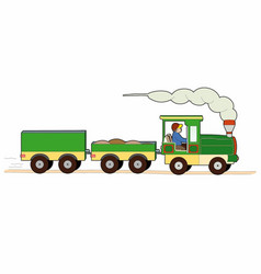 Small freight train vector