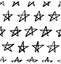 star seamless pattern hand drawn doodle vector image