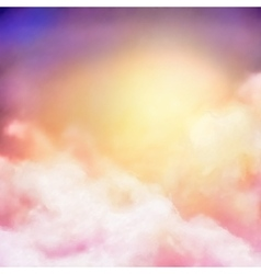 Sunrise Sky Painting Background vector image