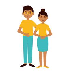 teenagers girl and boy vector image
