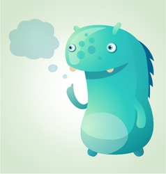 thinking monster vector image