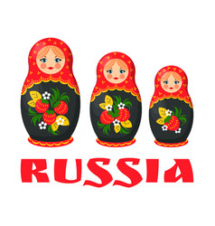 traditional russian matryoshka doll vector image