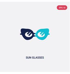 Two color sun glasses icon from brazilia concept vector