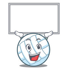Up board volley ball character cartoon vector