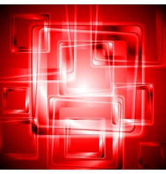Vibrant red tech design vector image