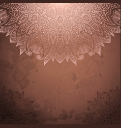 vintage background with lace ornament vector image