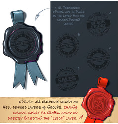 wax seal - black friday sales vector image