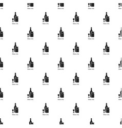 wine glass bottle pattern seamless vector image
