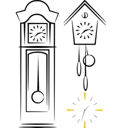 With clocks vector