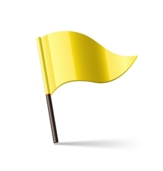 Yellow waving flag vector