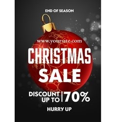 Christmas sale design poster template vector image
