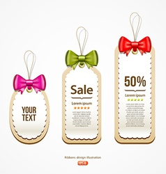 Colorful ribbons Label and Tag design vector image vector image