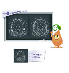 game find 9 differences lion vector image vector image