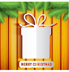 merry christmas festive template vector image vector image