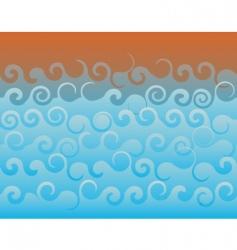 rough sea vector image vector image