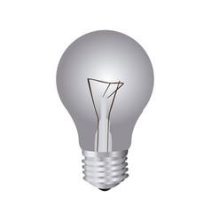 silver bulb icon image vector image