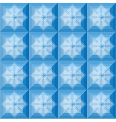 Squares pattern blue background vector