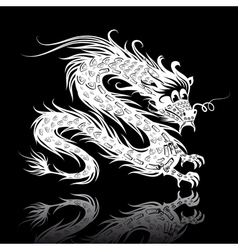 white chinese dragon vector image