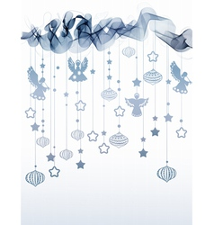 Abstract background with wave and angels vector image