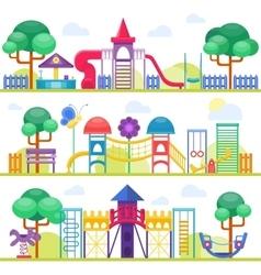 Children playground vector image vector image