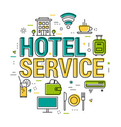 hotel service letters - line concept vector image vector image