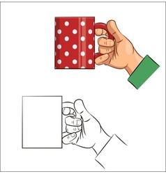 Tea cup in hand Icon vector image vector image