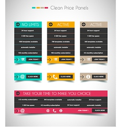 Web price shop panel with space for text and buy vector image
