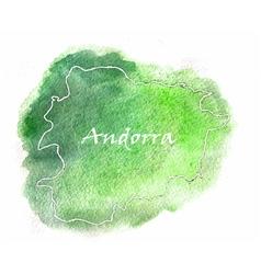 Andorra watercolor map vector image vector image