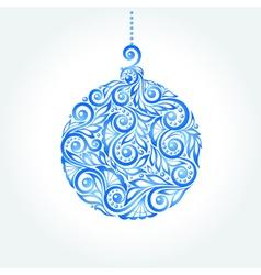 beautiful blue Christmas ball vector image vector image