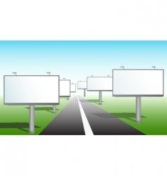 bilboard sign vector image
