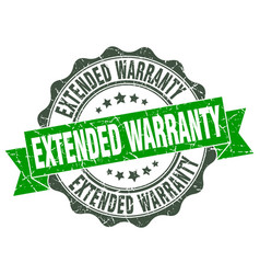 Extended warranty stamp sign seal vector