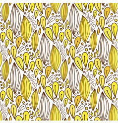 floral seamless pattern in yellow color spring vector image vector image