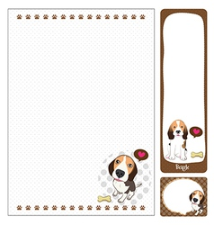 paper note Beagle vector image