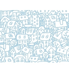 Seamless pattern with houses and courtyards vector image