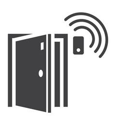 door sensor solid icon security and alarm vector image vector image