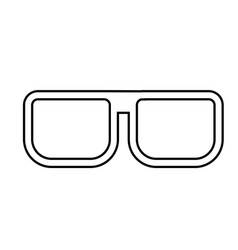 Line nice glasses accessory to can see vector
