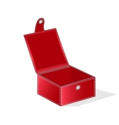 Red gift box vector image