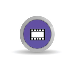 sticker film tape blue vector image