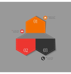 Trendy design template for infographics vector image