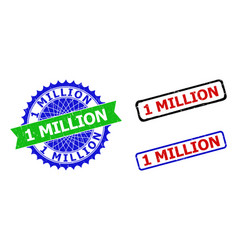1 million rosette and rectangle bicolor watermarks vector