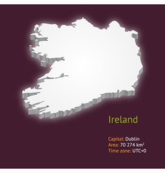3d map of Ireland vector