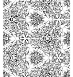abstract black and white ethnic seamless pattern vector image