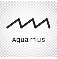 Aquarius zodiac sign flat astrology on isolated vector